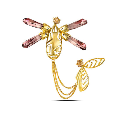 Metallic Pink in Yellow Gold Lagom
