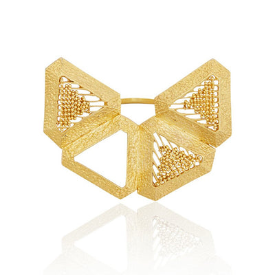 22K Yellow Gold Plated Bold Triangle