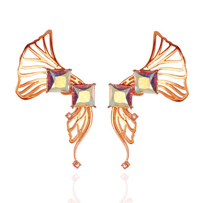 Iaira EarCuffs in Rose Gold with Pink Hues