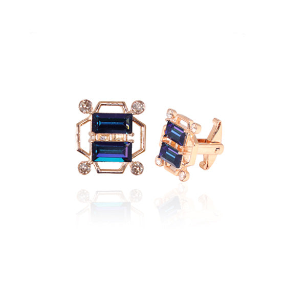 Tap Cufflinks in Blue