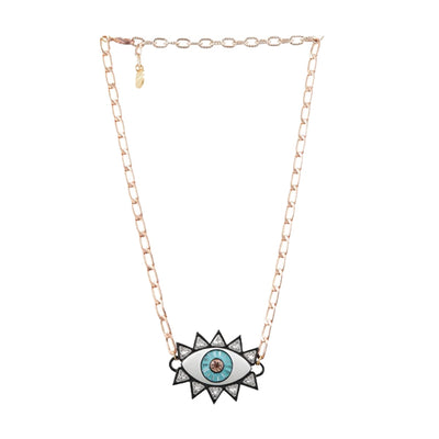 Black Trim Evil Eye Necklace