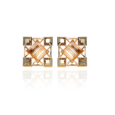 Yangko Cufflinks in Metallic Grey and Gold