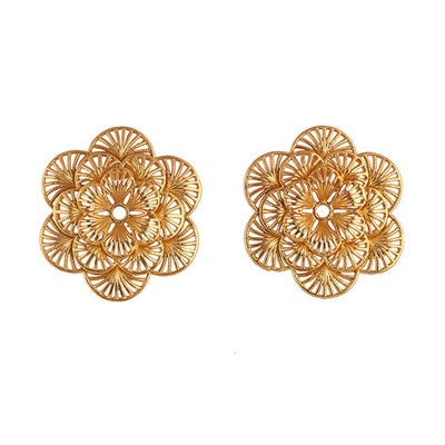 22K Yellow Gold Plated Garden Picked Studs