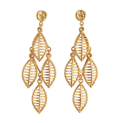 22K Yellow Gold Plated Golden Dipped Leaf
