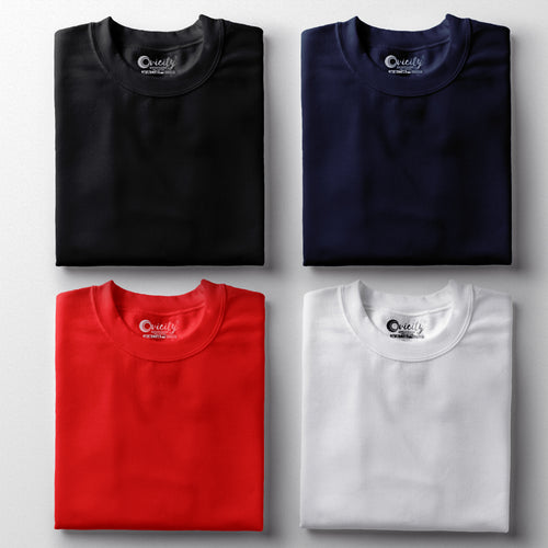 Classic Colors Half-Sleeve T-Shirt Combo (Pack Of 4)