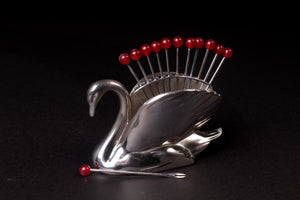 Art Deco Swan Cocktail Picks