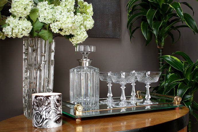Val St Lambert 'Heidelberg' Crystal Champagne Coupes