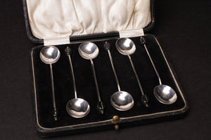 Antique Silver 'Coffee Bean' Spoons