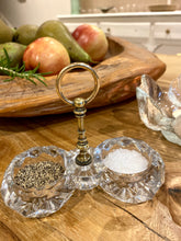 Load image into Gallery viewer, Antique Cut Glass Salt and Pepper Server