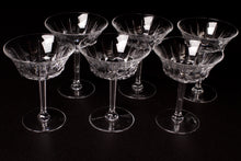 Load image into Gallery viewer, Val St Lambert Crystal Champagne Coupes.