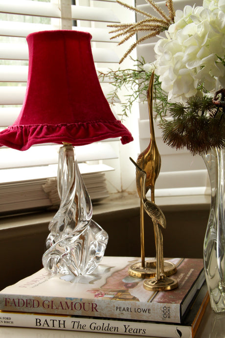 French Crystal Glass Lamp-base