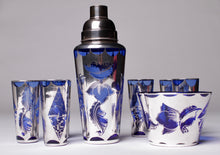 Load image into Gallery viewer, Cocktail Set - Art Deco Venetian Glass