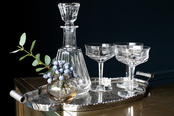 Val St Lambert Crystal Champagne Coupes