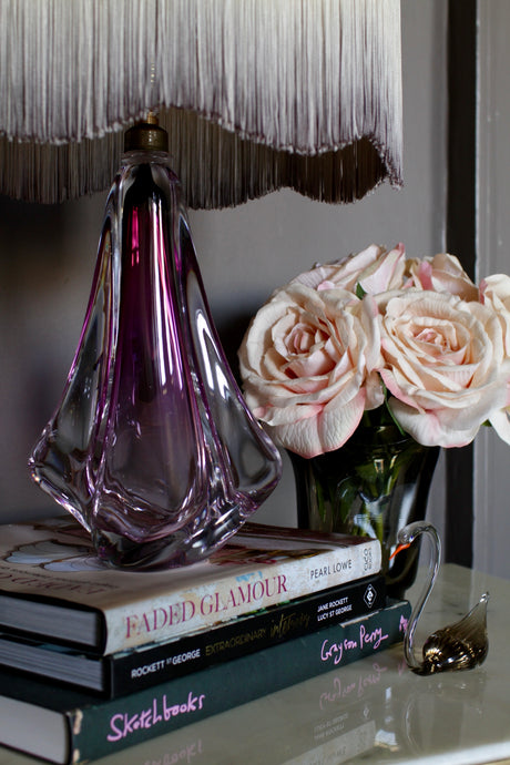 Val St Lambert Crystal Lamp-Base