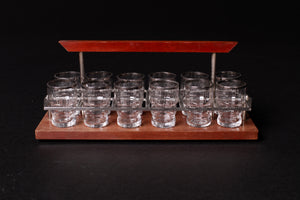 Mid-Century Shot Glasses and Carrier