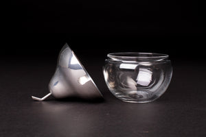 Silver and Glass Pear Pot