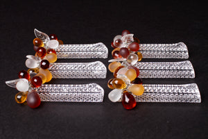 Beaded Cut Glass Knife Rests