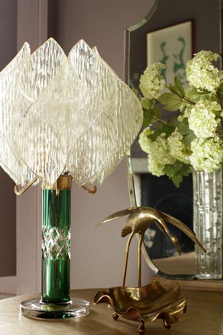 Art Deco Cut Glass Lamp-Base