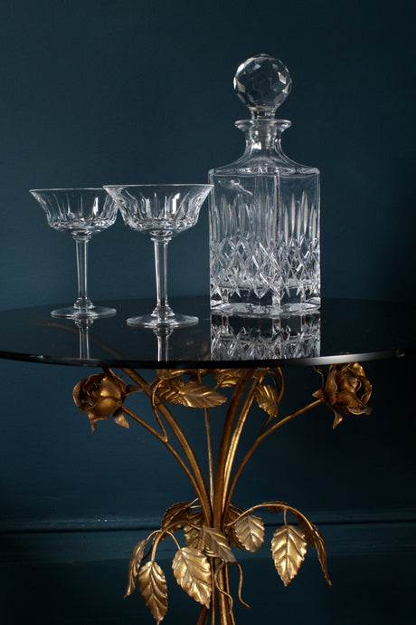 Cut Glass Crystal Decanter
