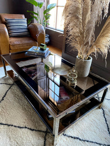 Belgo Chrome 23 Carat Gold Plated Coffee Table and Side Tables Set