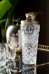 Art Deco Cut Glass Cocktail Pourer / Shaker