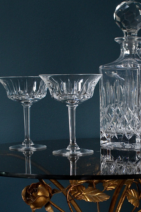 Val St Lambert Champagne Coupes
