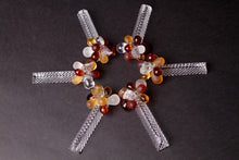 Load image into Gallery viewer, Amber Beaded Knife Rests