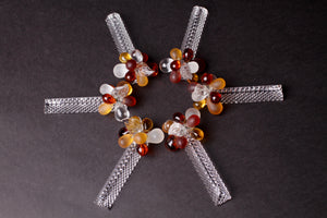 Amber Beaded Knife Rests