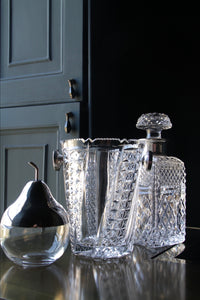 Cut Glass Crystal Ice Bucket