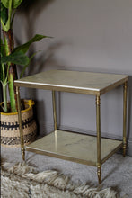 Load image into Gallery viewer, Table Occasional Mid-Century Marble and Brass