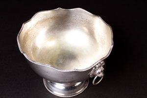 Silver Champagne Ice Bucket with Lion Heads