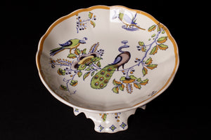 Vintage Cake Plate with Peacock Design