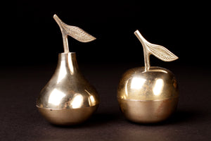 Apple and Pear Brass Boxes