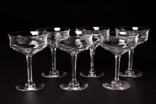 Load image into Gallery viewer, Val St Lambert Crystal Champagne Coupes