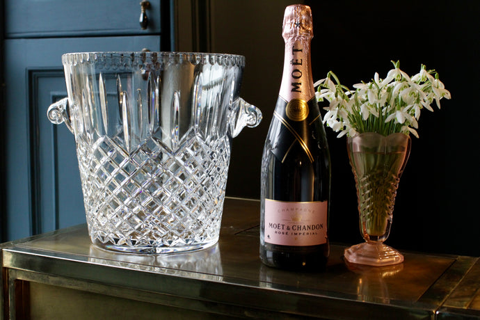 Val St Lambert Cut Crystal Champagne Bucket