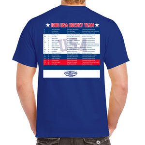 Relive the Miracle - SS TEE BLUE - USA 1980 HOCKEY TEAM