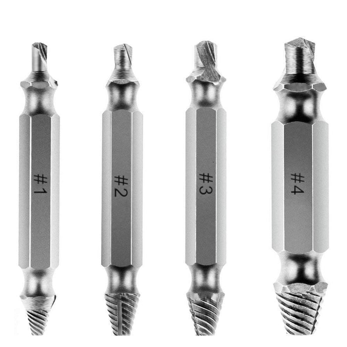 Extreme speed stripping screw removal tool (4 pieces)