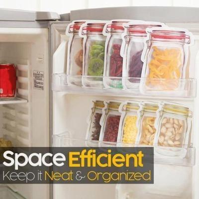 Reusable Jar Bags—make your refrigerator clean and tidy