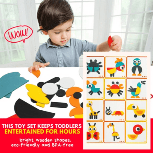 Puzzle & Read - Educational Blocks Set