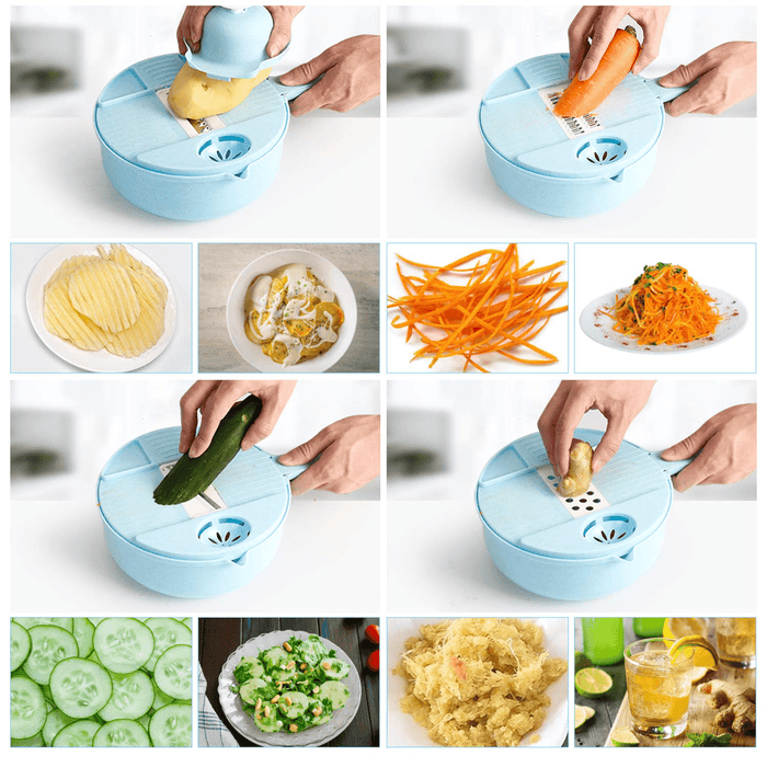 12 In 1 Multipurpose Vegetable & Furits Slicer Cutter Set