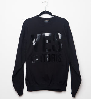 YES | Cliteracy Unisex Sweatshirt, Black on Black