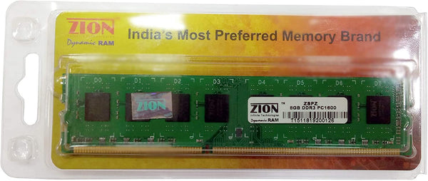 Zion 8GB DDR3 PC1600 1600MHz Desktop Memory