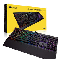 CORSAIR K70 RGB MK.2 Low Profile Mechanical Gaming Keyboard -Cherry MX Red Black, CH-9109017-NA