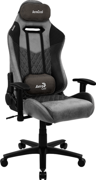 AEROCOOL DUKE AEROSUEDE GAMING CHAIR - ASH BLACK