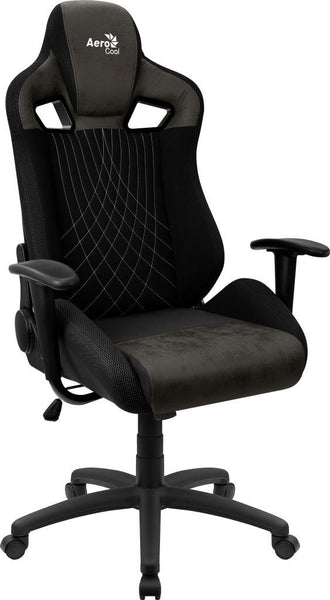 AEROCOOL EARL AEROSUEDE GAMING CHAIR-  IRON BLACK