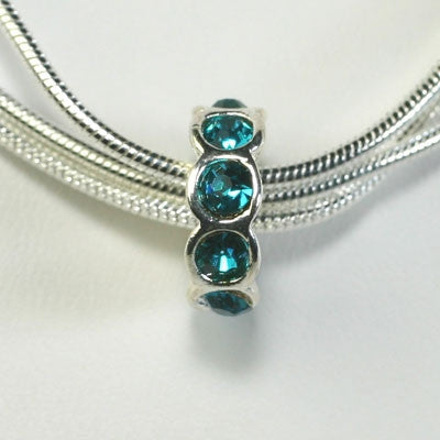 March - Aquamarine - Birthstone Charm