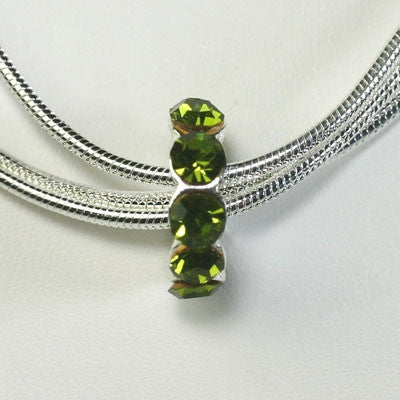 August - Peridot - Birthstone Charm