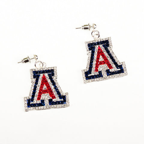 Arizona Crystal Logo Earrings
