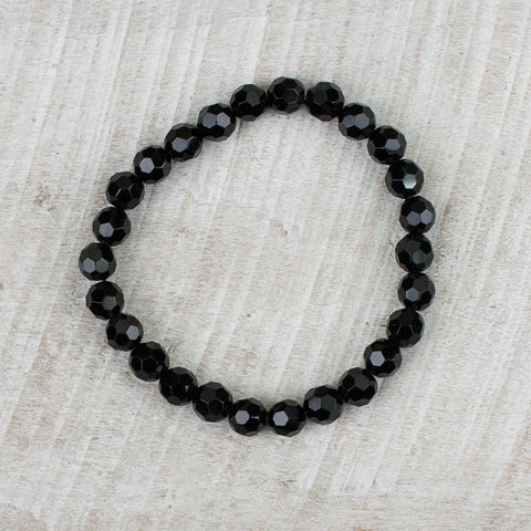 Small Black Crystal Bracelet