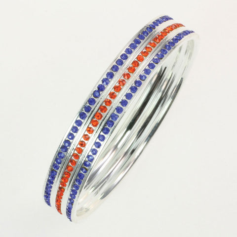 Seasons Jewelry Boise State Crystal Bangle Bracelet